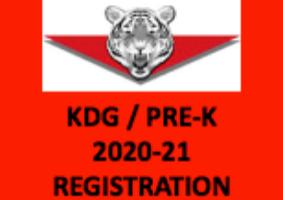 KDG / PRE-K REGISTRATION 2020-21