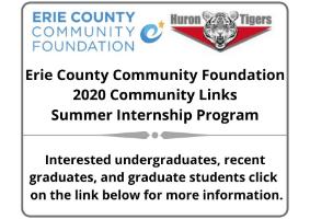 Erie Community Foundation 2020 Community Summer Internship Program