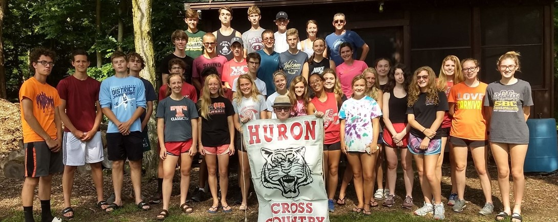 Cross Country Team at Kelly's Island 4H Camp