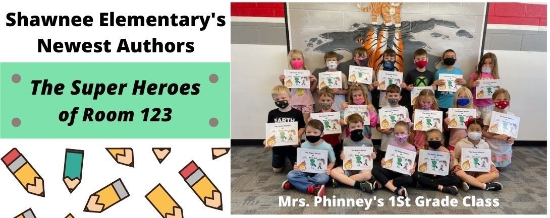 First Grade Students with their published book